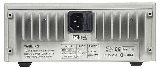 E3620A - Fonte de alimentação CC com 2 saídas, 2x 25V 1A, 50 W