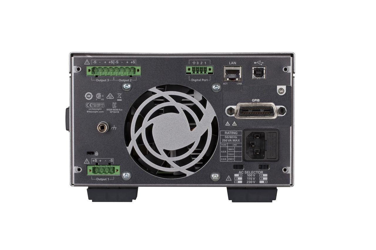 E36313A - Fonte de alimentação CC com 3 saídas, 1x 6V 10A e 2x 25V 2A, 160 W