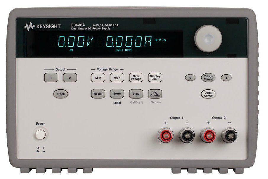 E3648A - Fonte de alimentação CC com 2 saídas 1x 8V 5A ou 1x 20 2,5A, 100 W