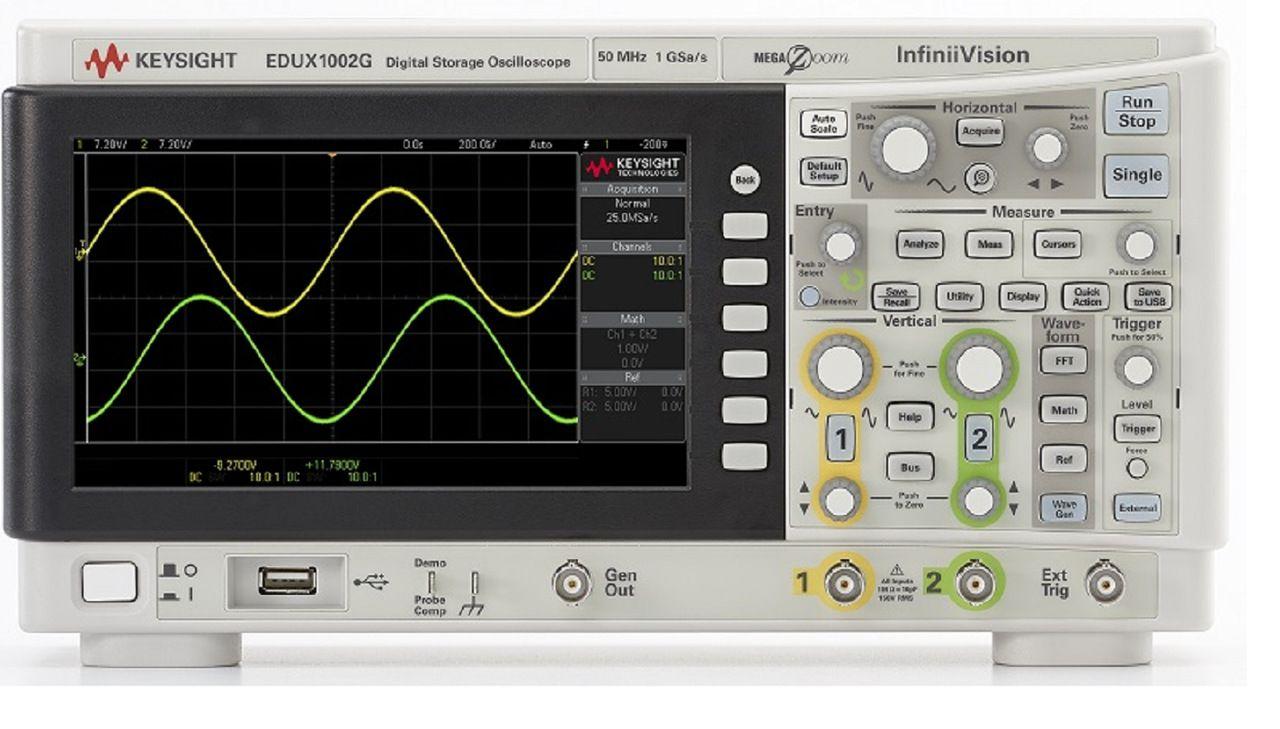 EDUX1002G - Osciloscópio Digital 50 MHz, 2 Canais