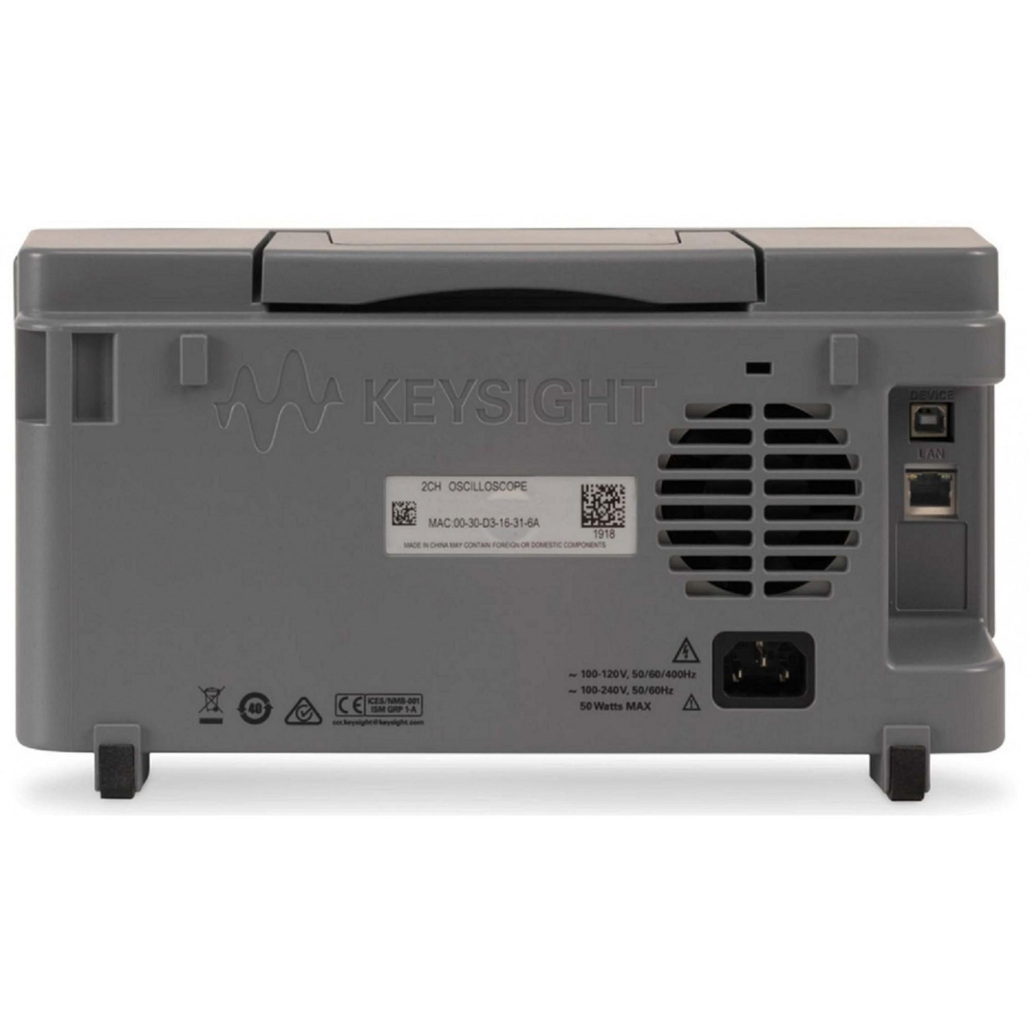 EDUX1052A - Osciloscópio Digital 50 MHz, 2 Canais
