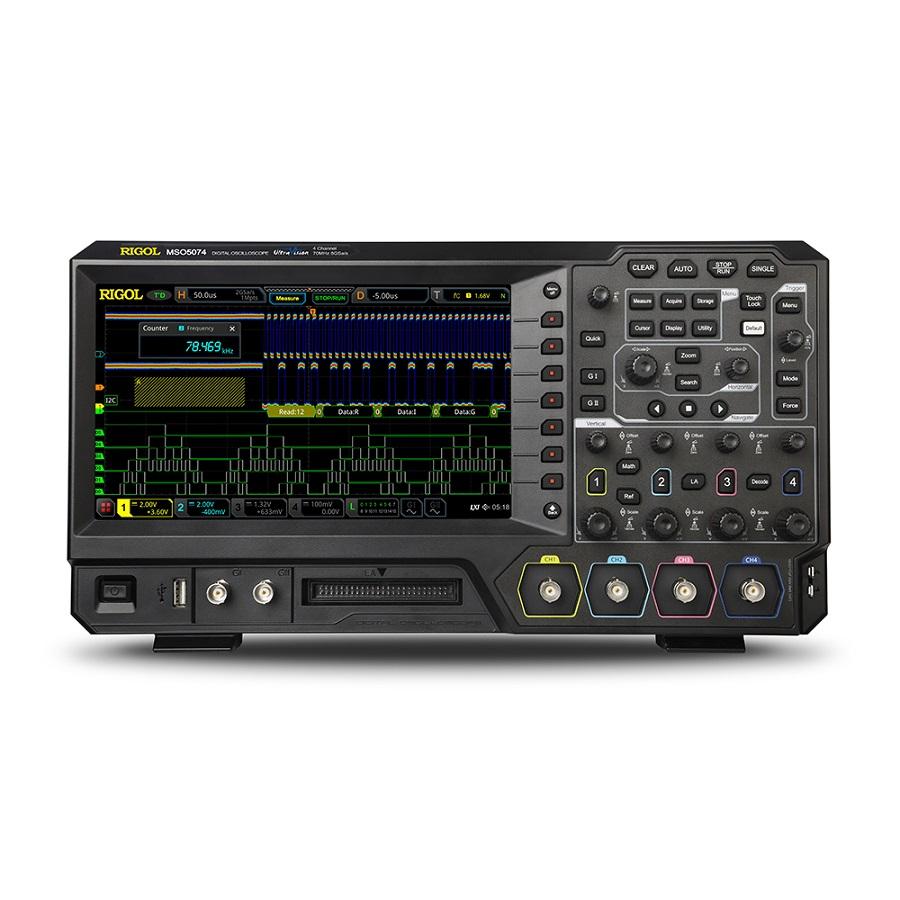 MSO5074 - Osciloscópio Digital:  4 canais + 16 digitais, 70 MHz