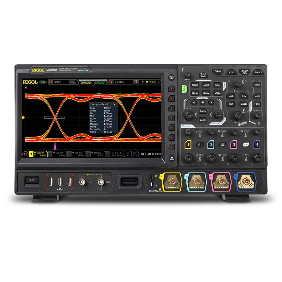 MSO8064 - Osciloscópio Digital:  4 canais analógicos + 16 digitais, 600 MHz