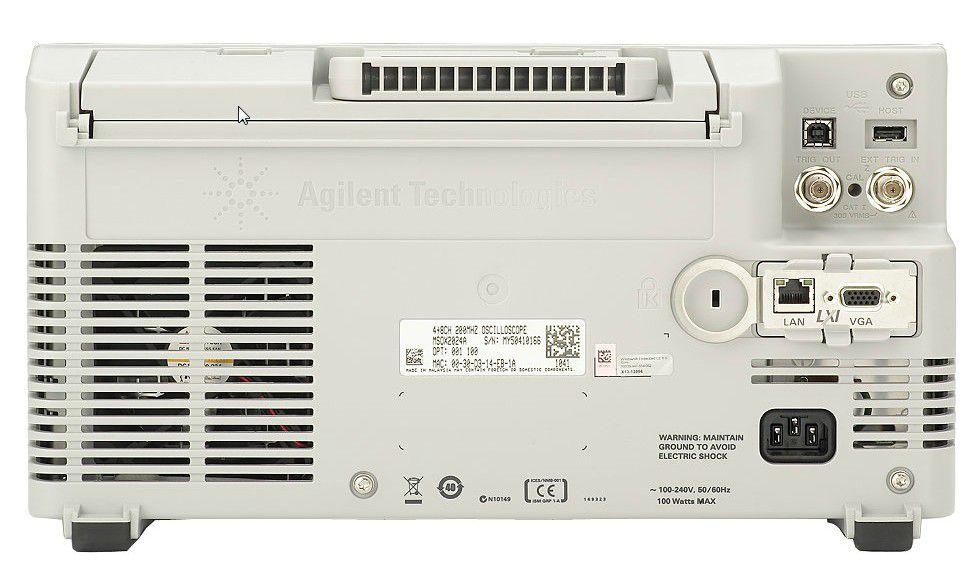 MSOX3104T - Osciloscópio Digital 1GHz, 4 Canais e com 16 Canais Digitais