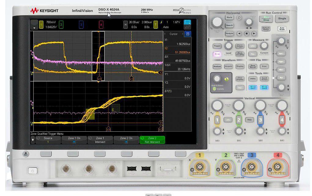 MSOX4024A - Osciloscópio Digital 200 MHz, 4 Canais e com 16 Canais Digitais