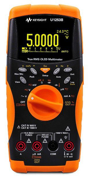 U1253B - Multímetro de Mão True RMS 50.000 contagem OLED
