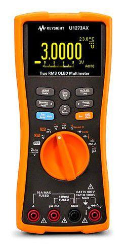 U1273AX - Multímetro de Mão True RMS 30.000 contagem IP54, OLED e Vsense