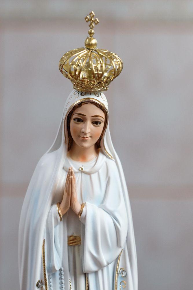 Imagem Nossa Senhora Fátima - 35cm - Marfinite com olhos de vidro