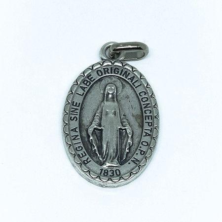 Medalha de Nossa Senhora das Graças - Prateada - Modelo 01