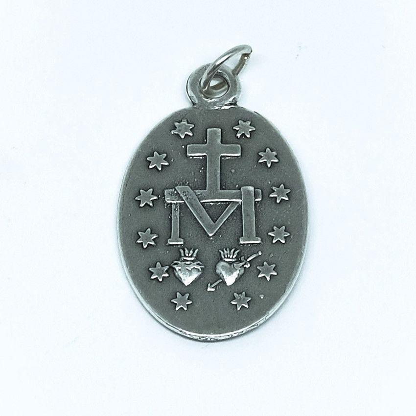 Medalha de Nossa Senhora das Graças - Prateada - Modelo 03