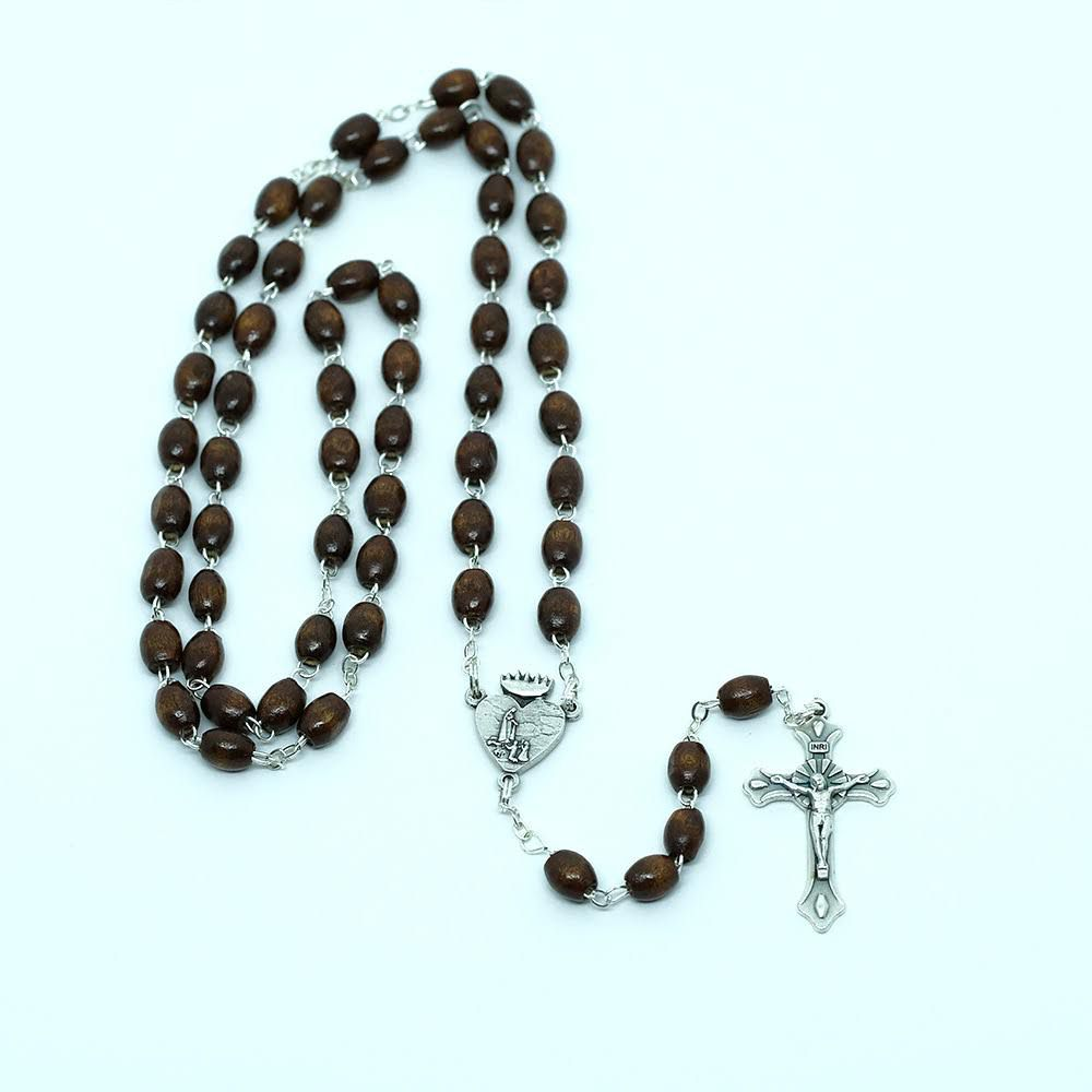 Terço Nossa Senhora de Fátima - em Madeira - Fabricado em Fátima