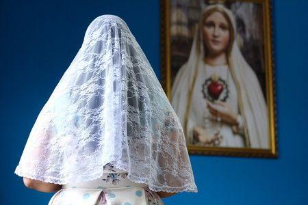 Véu para Santa Missa (branco)