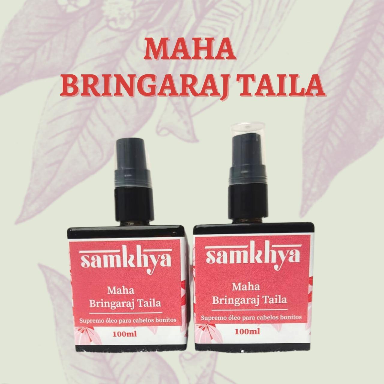 KIT com 2 Frascos - Maha Bhringaraj Taila - Supremo óleo para cabelos