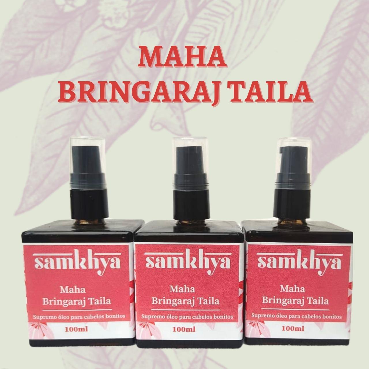 KIT com 3 Frascos - Maha Bhringaraj Taila - Supremo óleo para cabelos