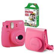 Câmera Instantânea Instax Fujifilm Mini 9 Rosa Flamingo