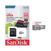 Cartão de memoria 64gb microSD Sandisk classe 10 ultra