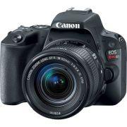 KIT Canon SL2 18-55mm STM + Cartão 128Gb Classe 10 + Lente Yongnuo 50mm F/1.8 Canon