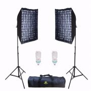KIT SOFTBOX 50X70 GREIKA AGATA II COM LÂMPADA