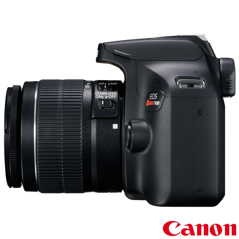 CÂMERA CANON REBEL T100 KIT LENTE EF-S 18-55mm IS