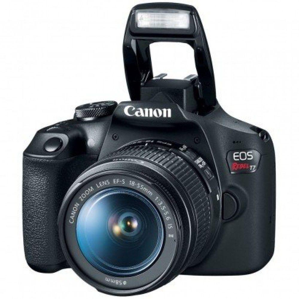 Câmera DSLR Canon EOS Rebel T7 Com Lente 18-55mm IS II