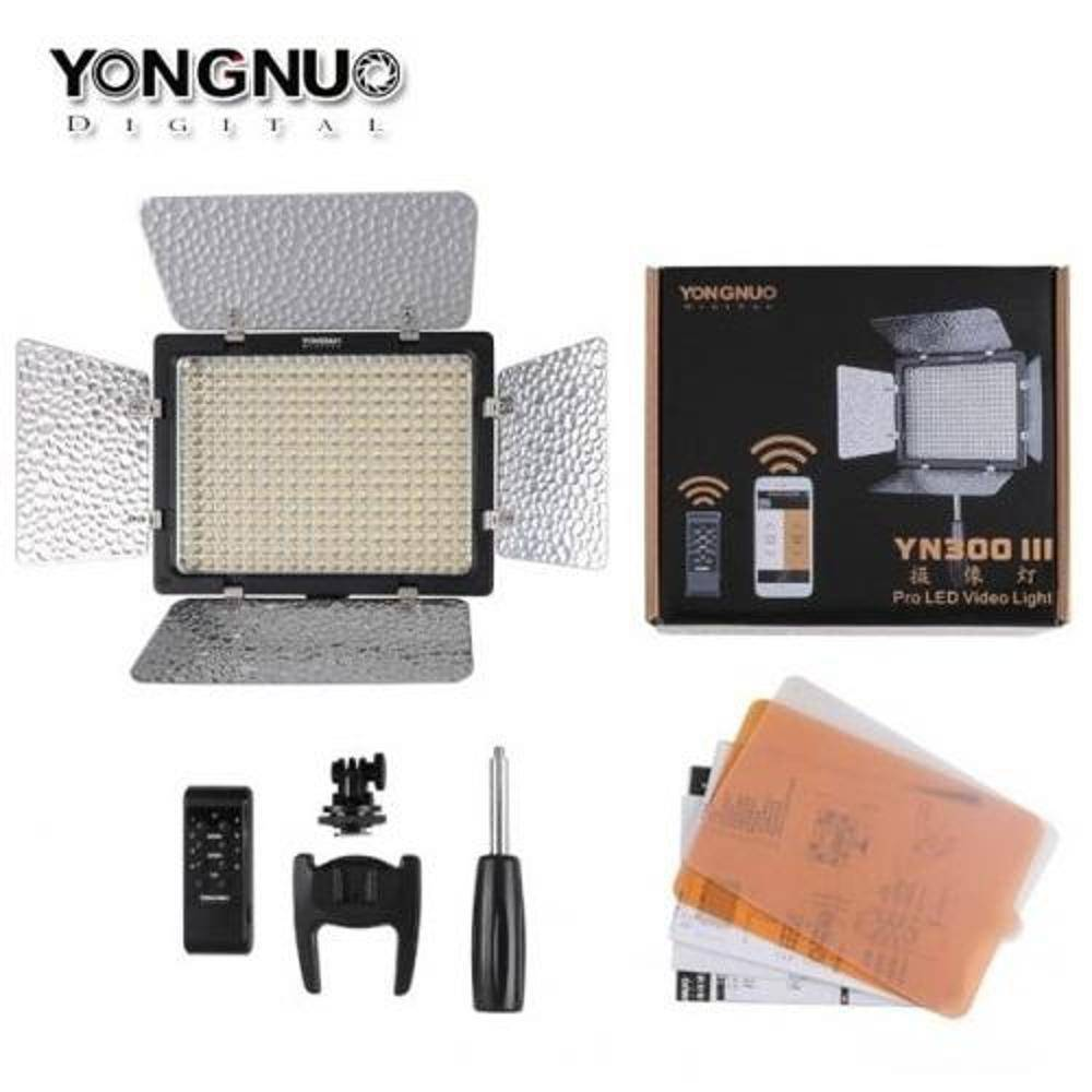 ILUMINADOR DE LED YONGNUO YN300 III + FONTE