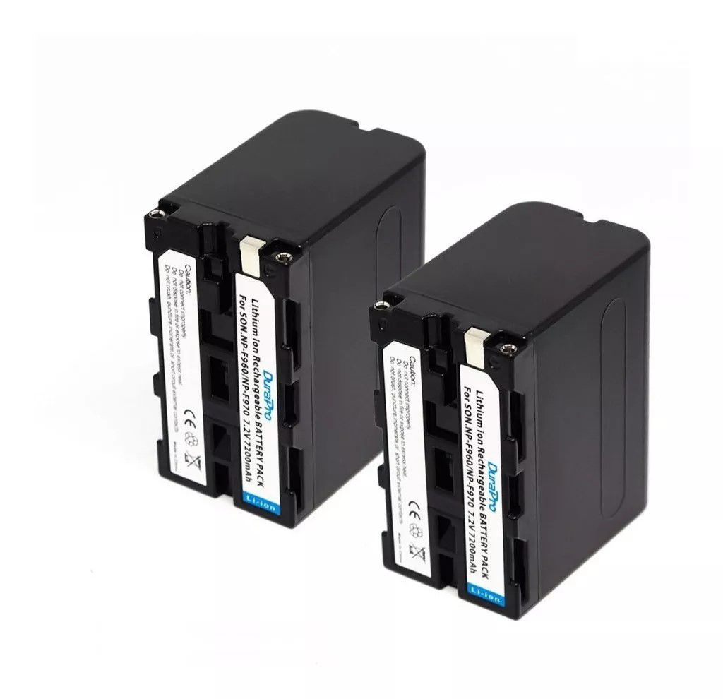 Kit de baterias para led 2x F970 + 1 Carregador