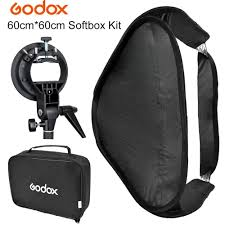SOFTBOX PARA FLASH SPEEDLIGHT GODOX 60X60cm