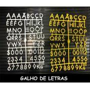 Conjunto de letras e números PLUS