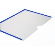 Display A4 Paisagem Fixação Adesiva - Borda Colorida
