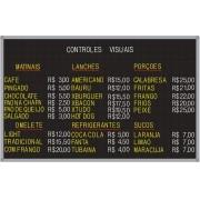 Tabela de Preço Furadinho - 120X75 Moldura Plástico