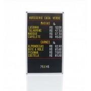 Tabela de Preço Furadinho - 45X75 Moldura Plástico