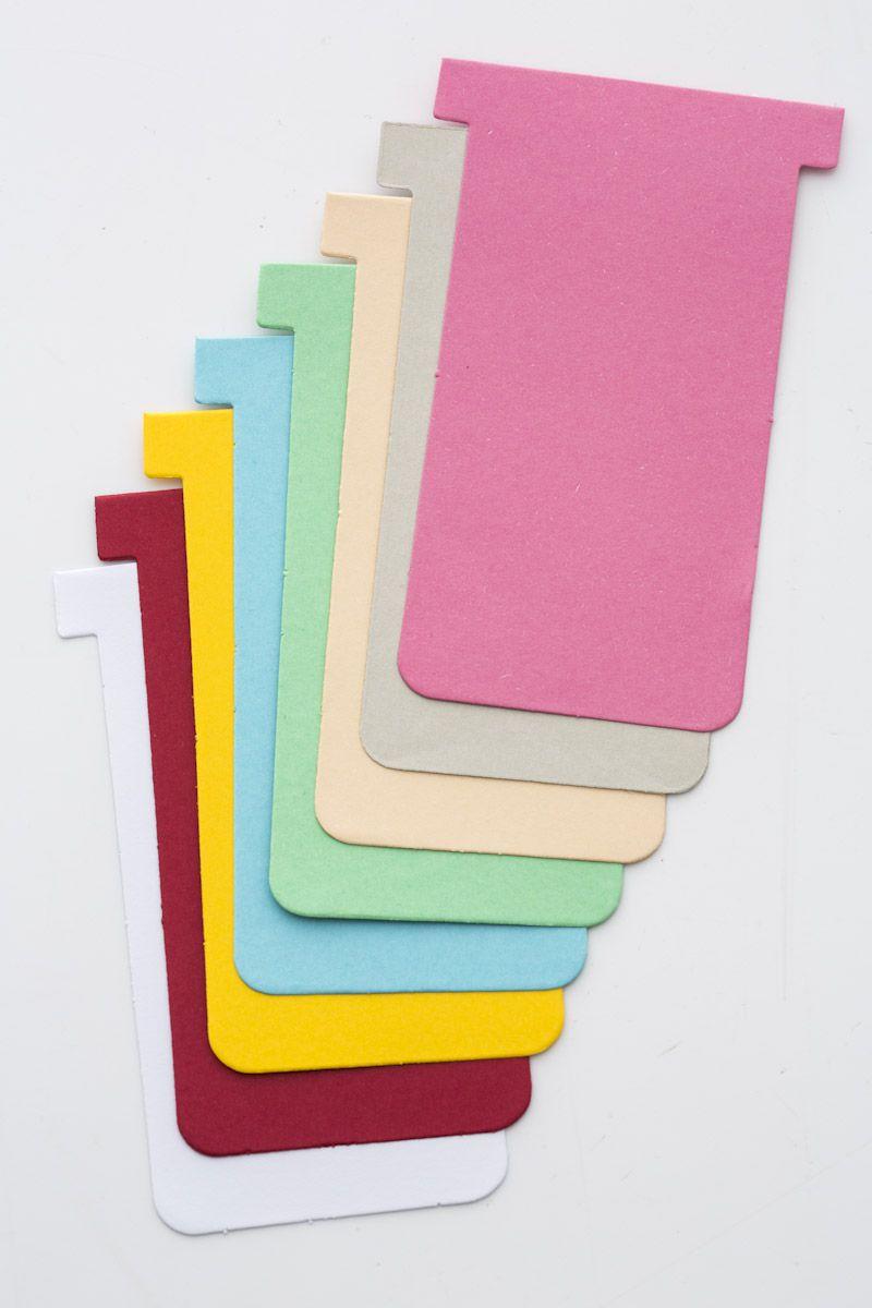 Cartão Kanban T Cartolina- Pacote com 50 unidades