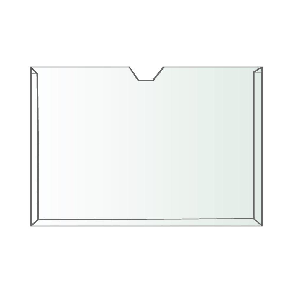Display A4 Transparente Paisagem Fixação Adesiva