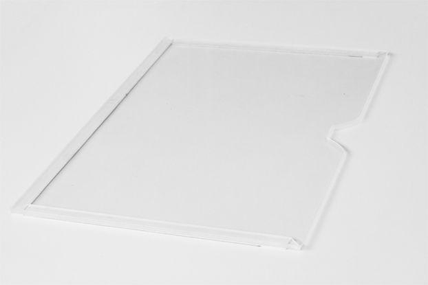 Display Acrílico A3 Paisagem Fixação Adesiva - Borda Colorida