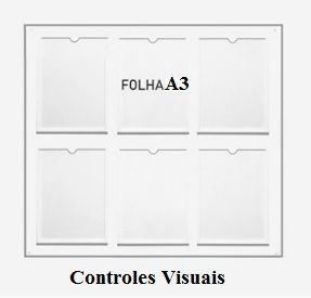 Display Acrílico A3 Retrato Fixação Adesiva - Borda Colorida