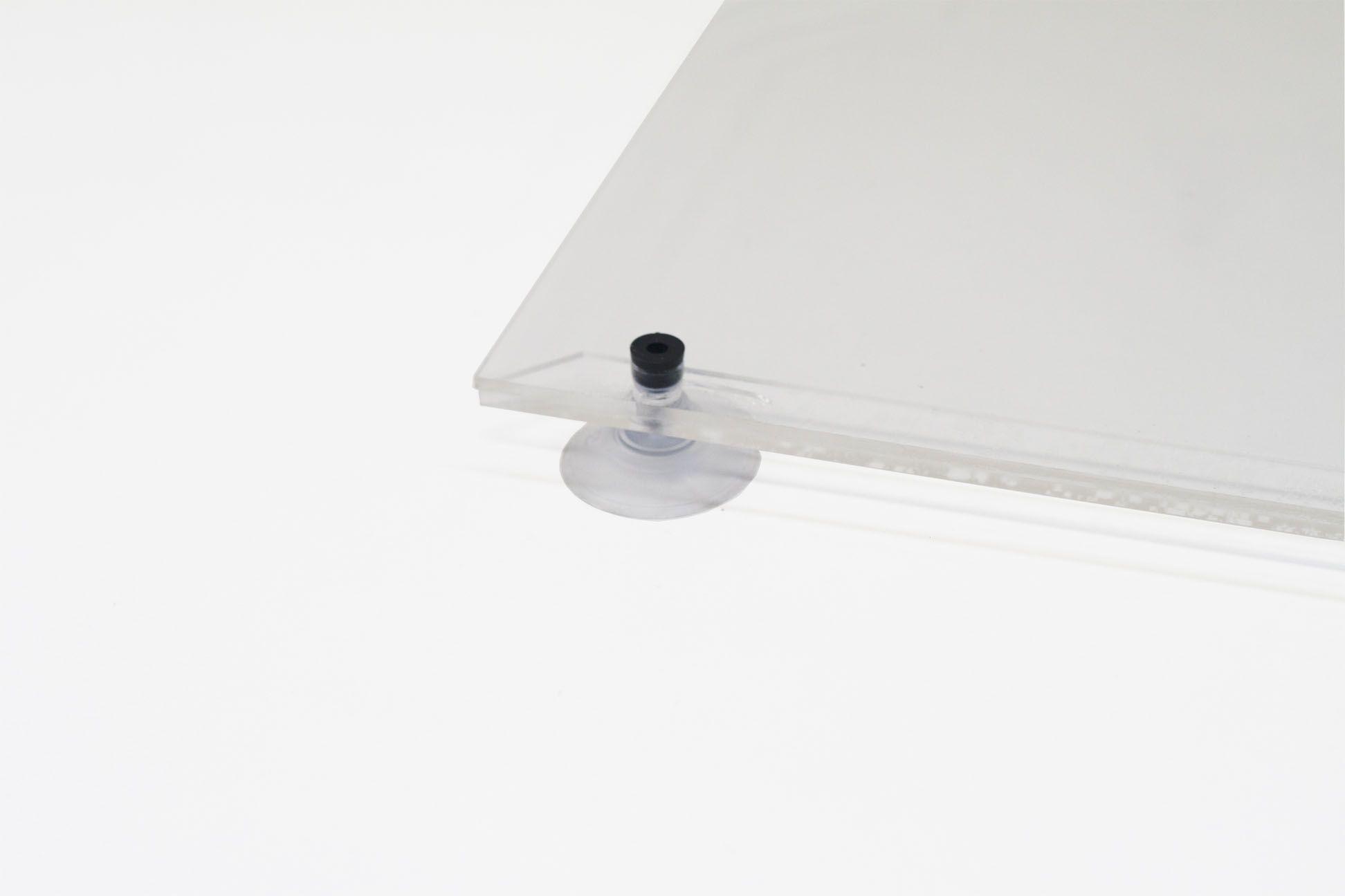 Display Acrílico A3 Retrato Fixação Ventosa