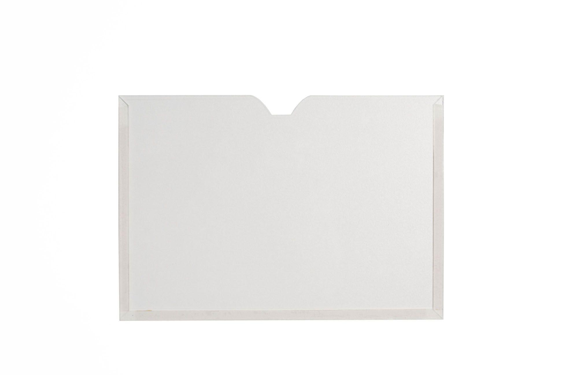 Display Acrílico A4 Paisagem Fixação Adesiva - Borda Colorida