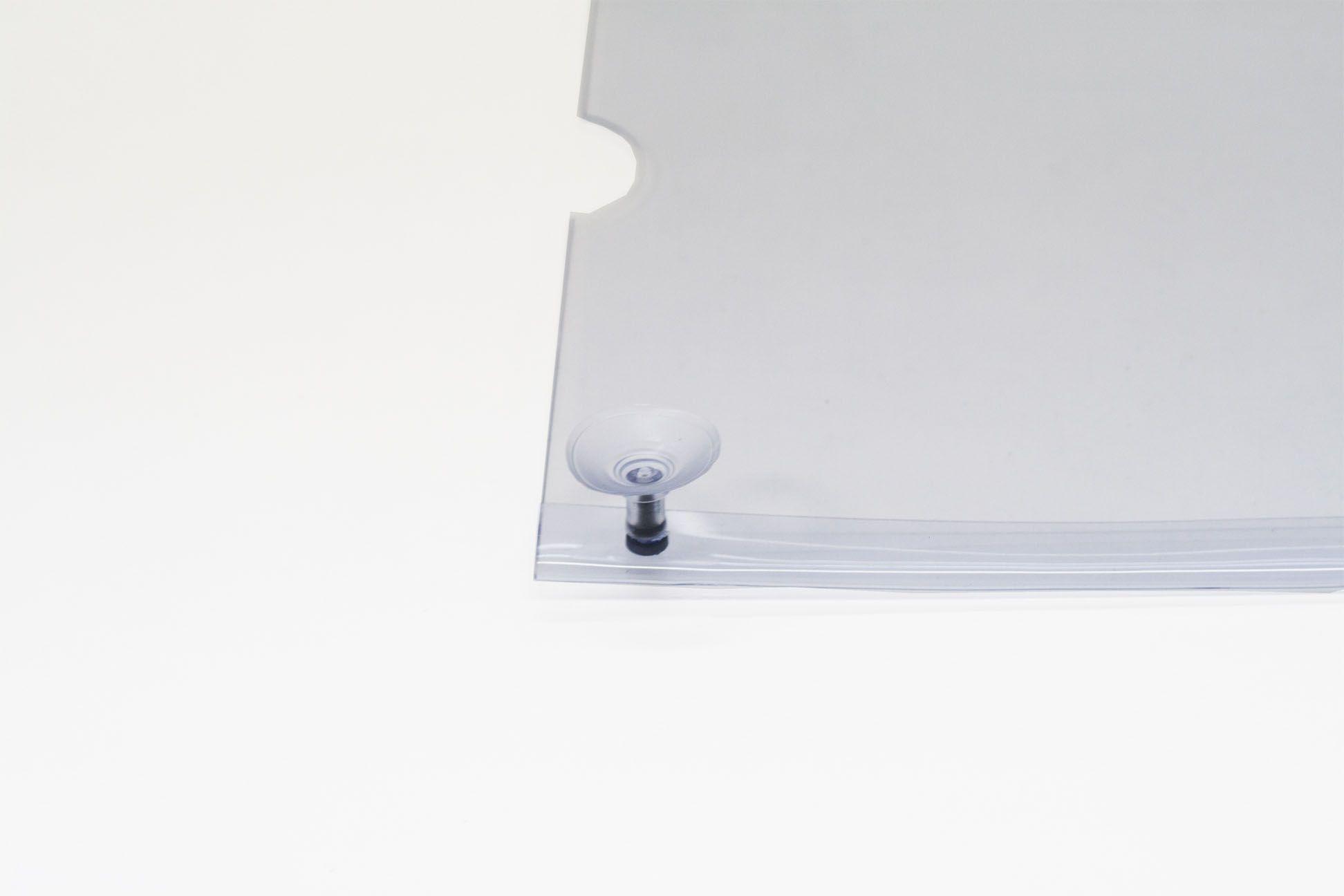 Display em PVC Cristal A3 Paisagem Fixação Ventosa