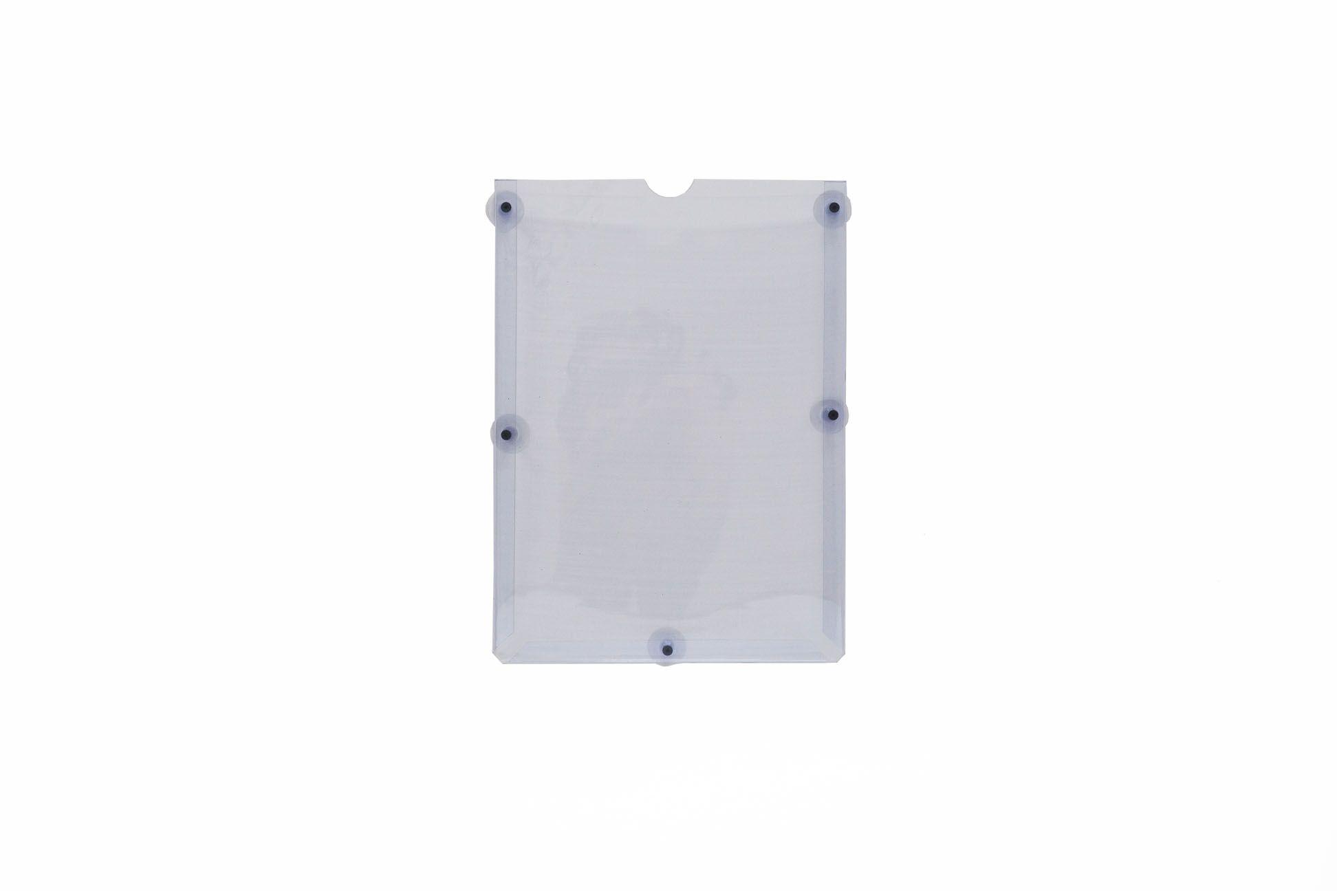 Display em PVC Cristal A3 Retrato Fixação Ventosa