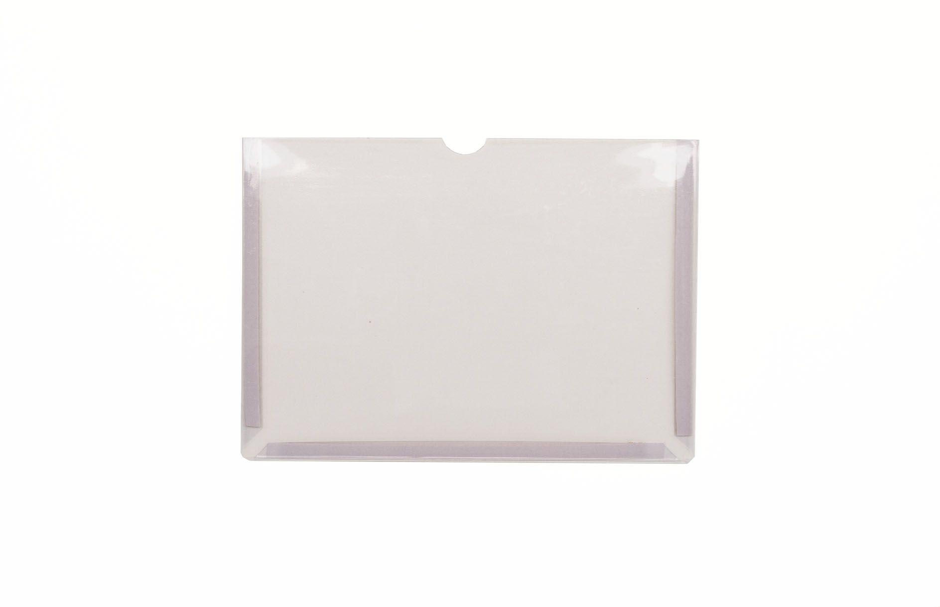 Display em PVC Cristal A4 Paisagem Fixação Adesiva