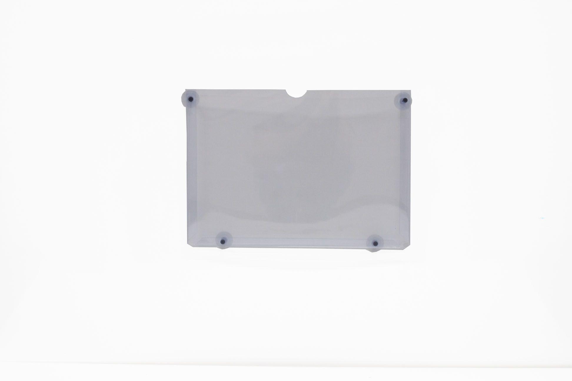 Display em PVC Cristal A4 Paisagem Fixação Ventosa