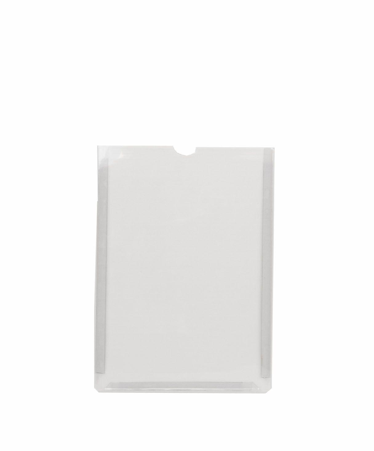 Display em PVC Cristal A4 Retrato Fixação Adesiva - Borda Colorida