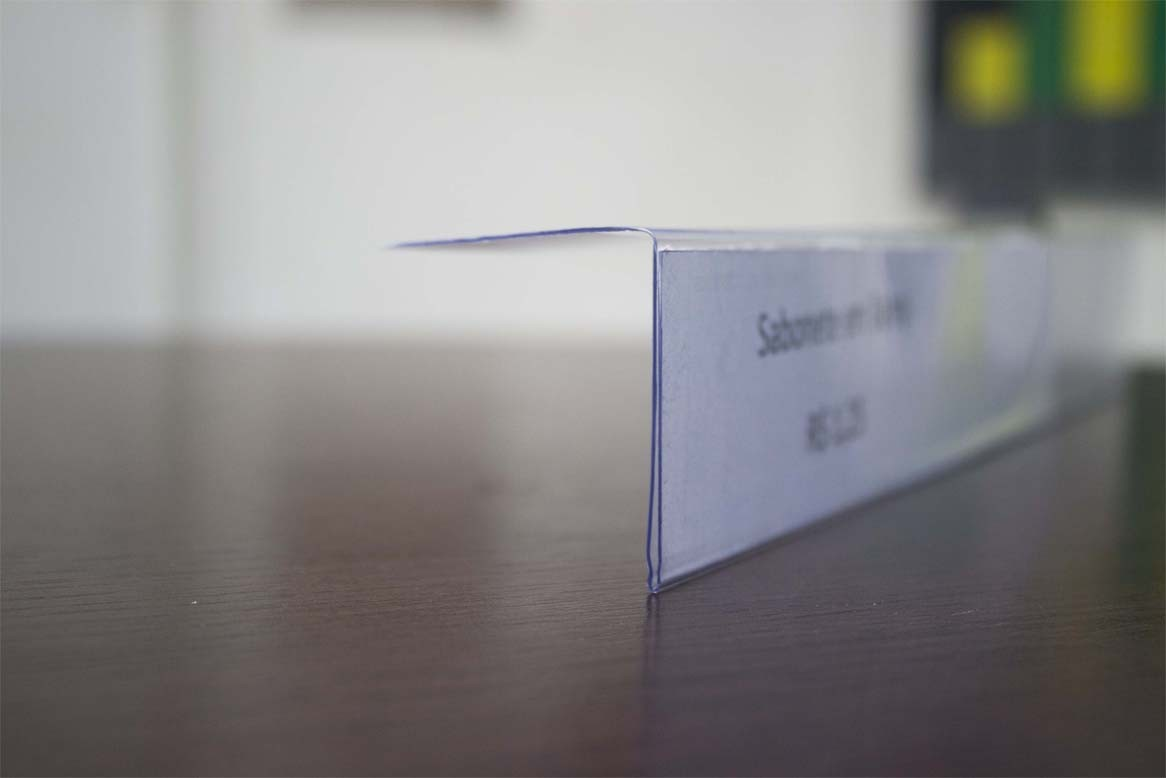Porta Etiqueta em L