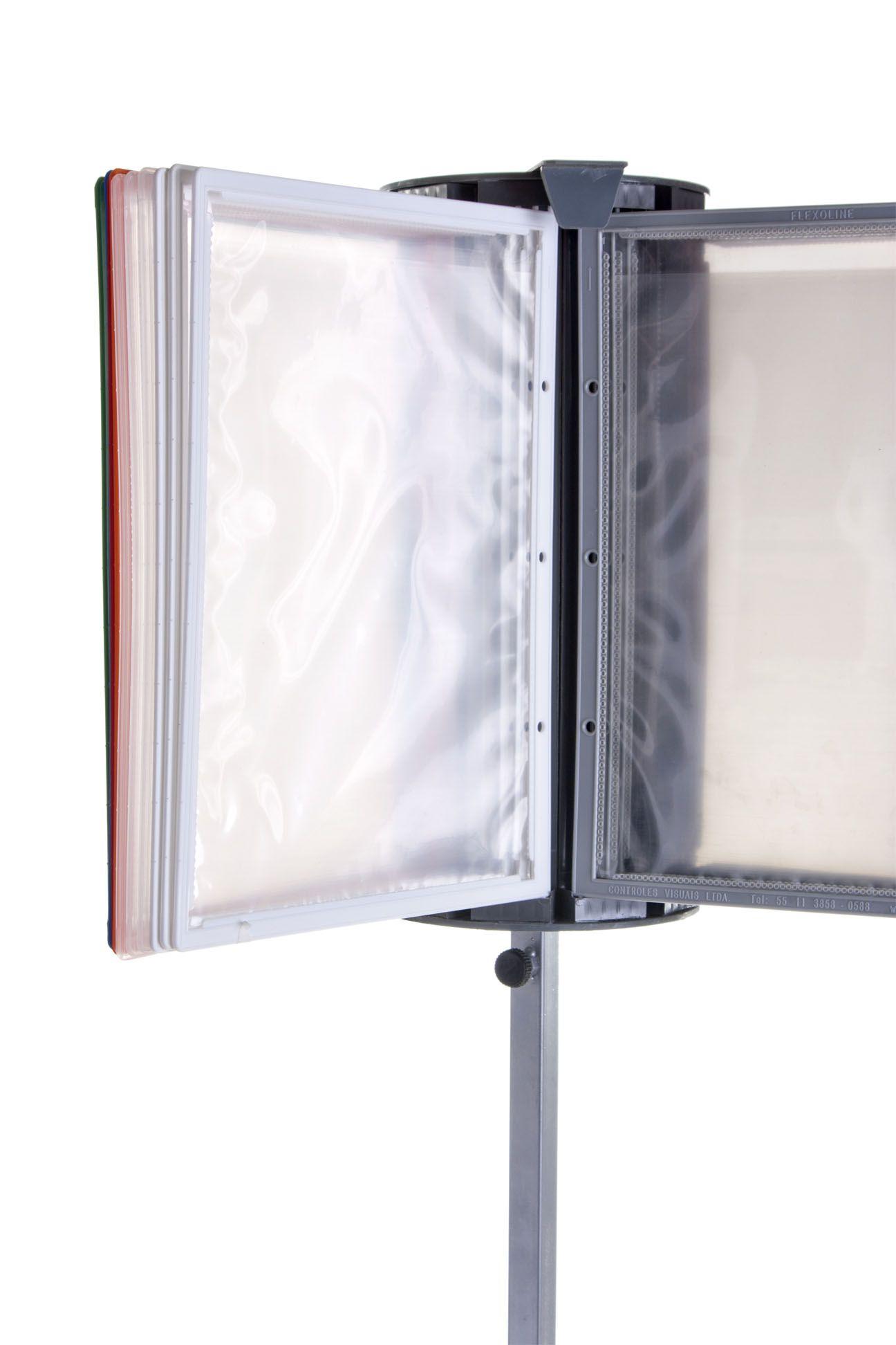 Suporte Pedestal Carrossel para Pastas Flexoline A4
