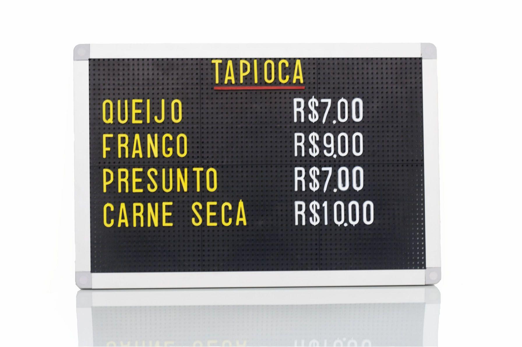 Tabela de Preço Furadinho - 30x45
