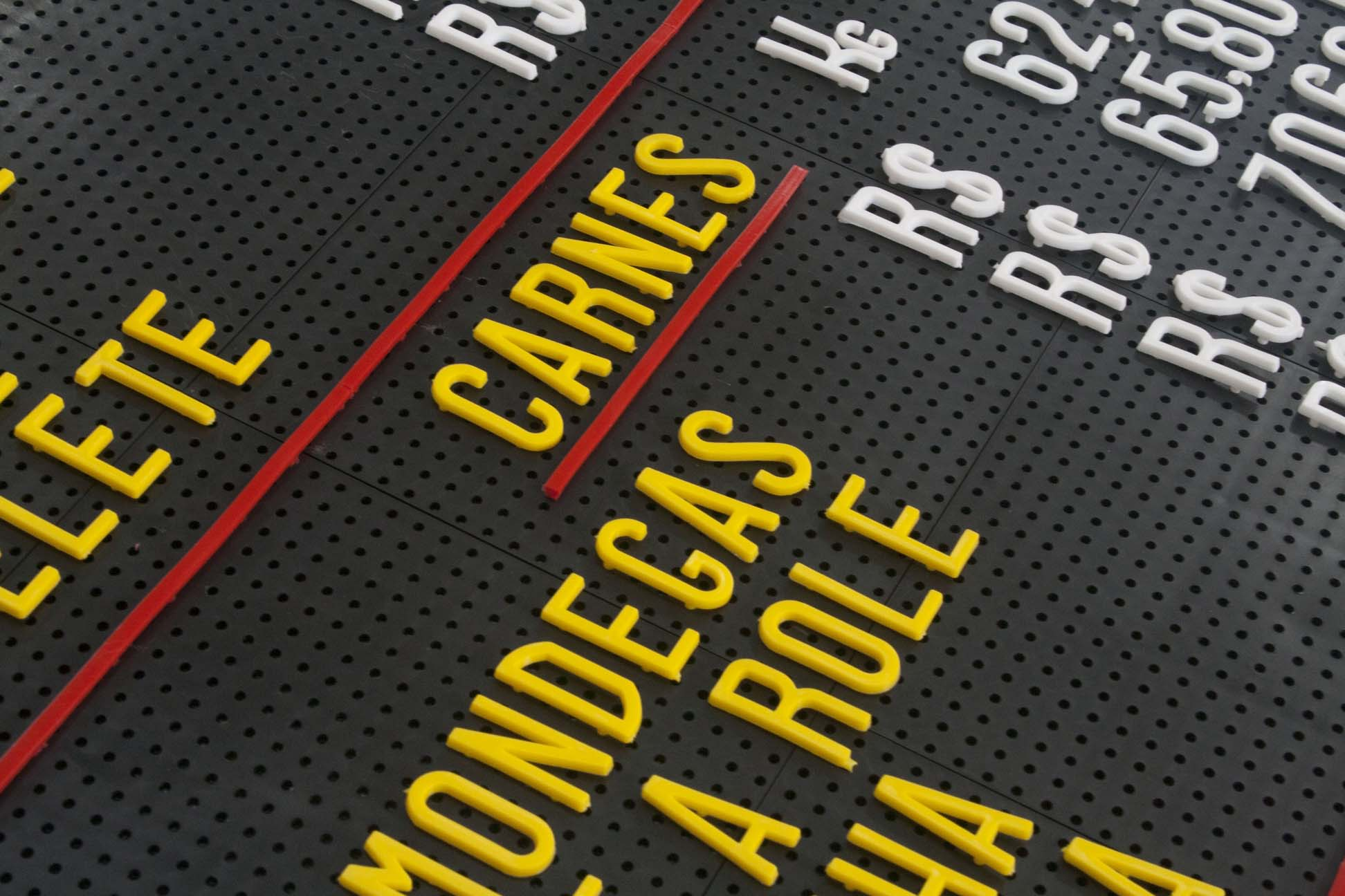 Tabela de Preço Furadinho - 45x60