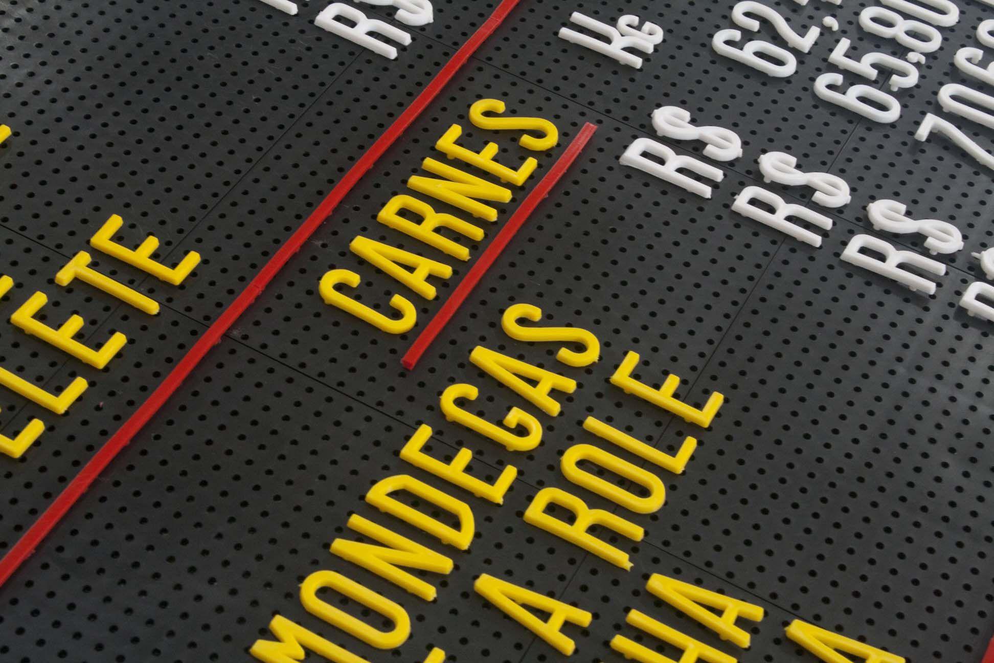 Tabela de Preço Furadinho - 75x45