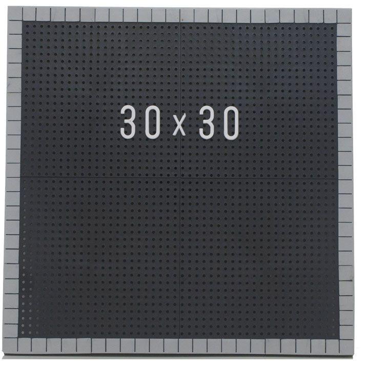 Tabela de Preço Furadinho - Moldura Plástico 30x30
