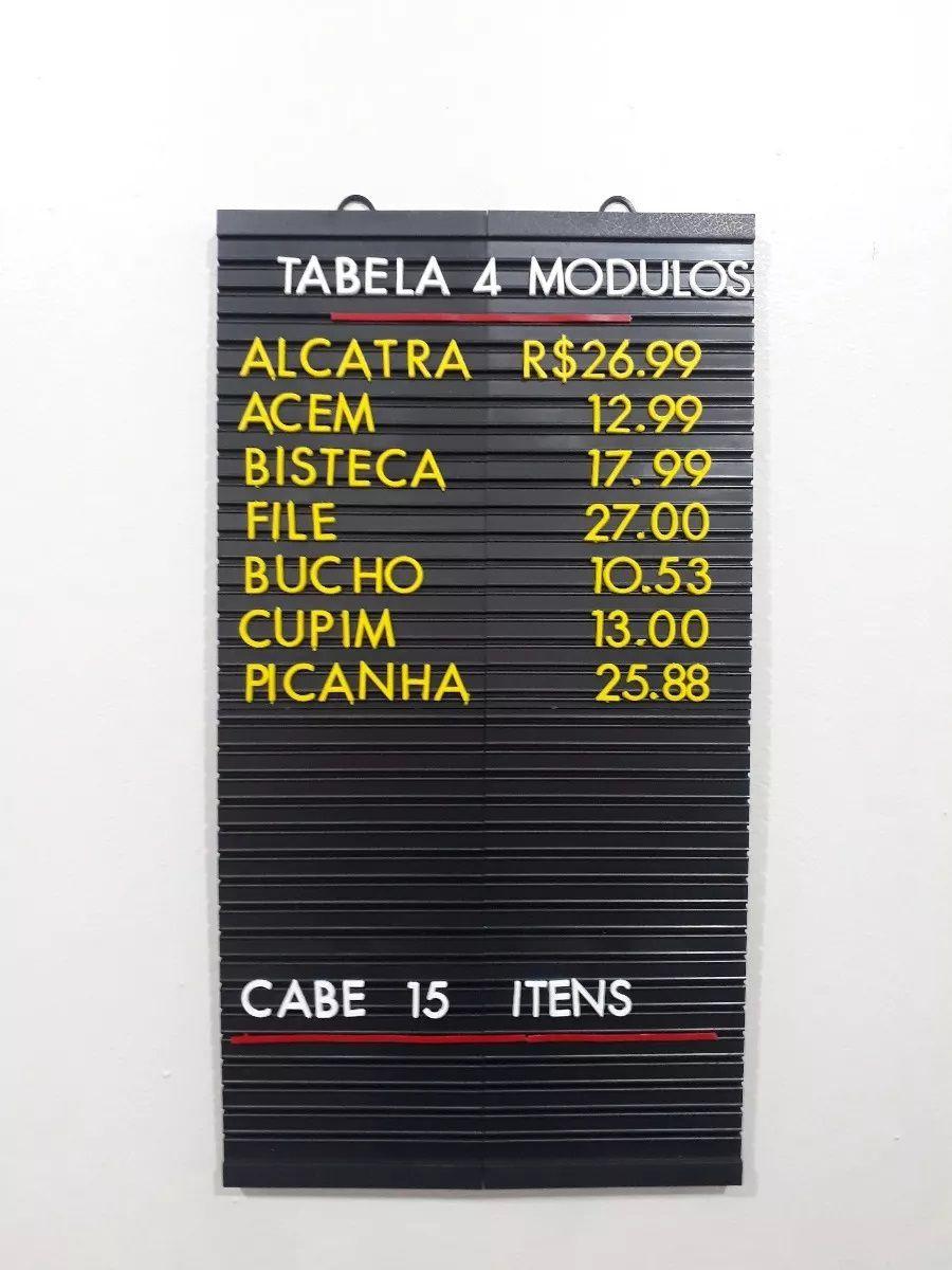 Tabela de Preços Plus 51x28