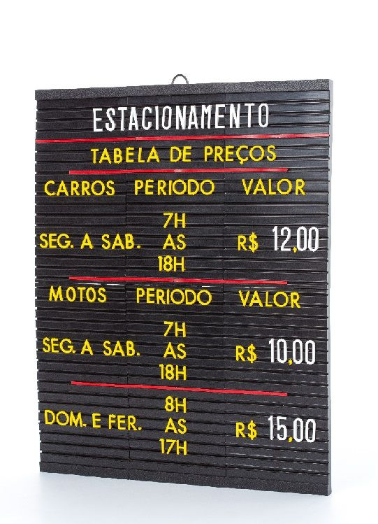 Tabela de Preços Plus 51x42